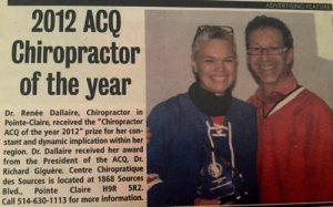 2012 ACQ award